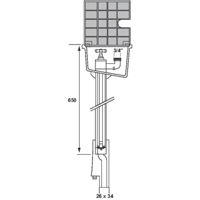 Bouche d'arrosage incongelable - PVC-1