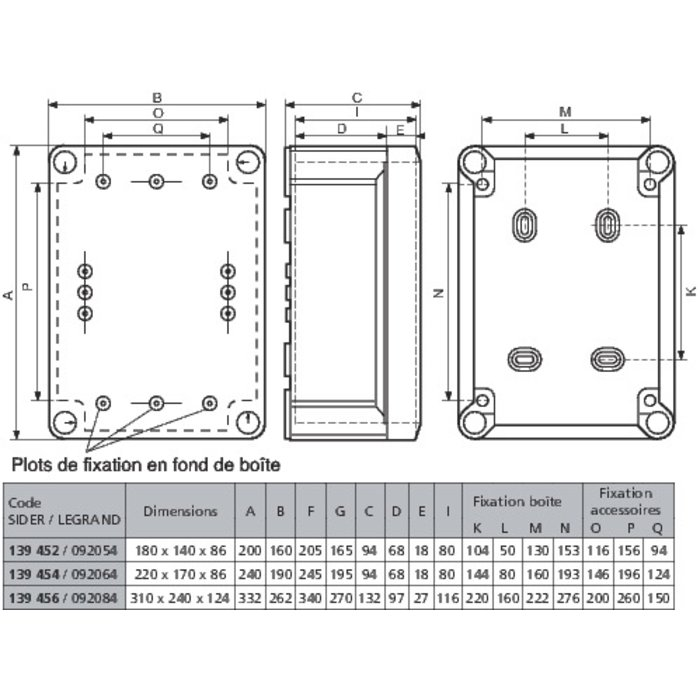 Boîte de dérivation rectangulaire Plexo - Pour presse-étoupe-1