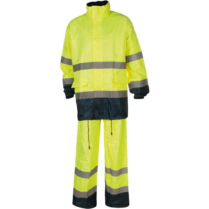 Ensemble de travail contre la pluie - Haute visibilité Hi-Way - Polyester - Fluorescent