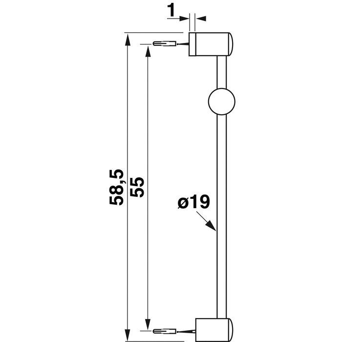 Barre de douche - Diamètre tube 19 mm-1
