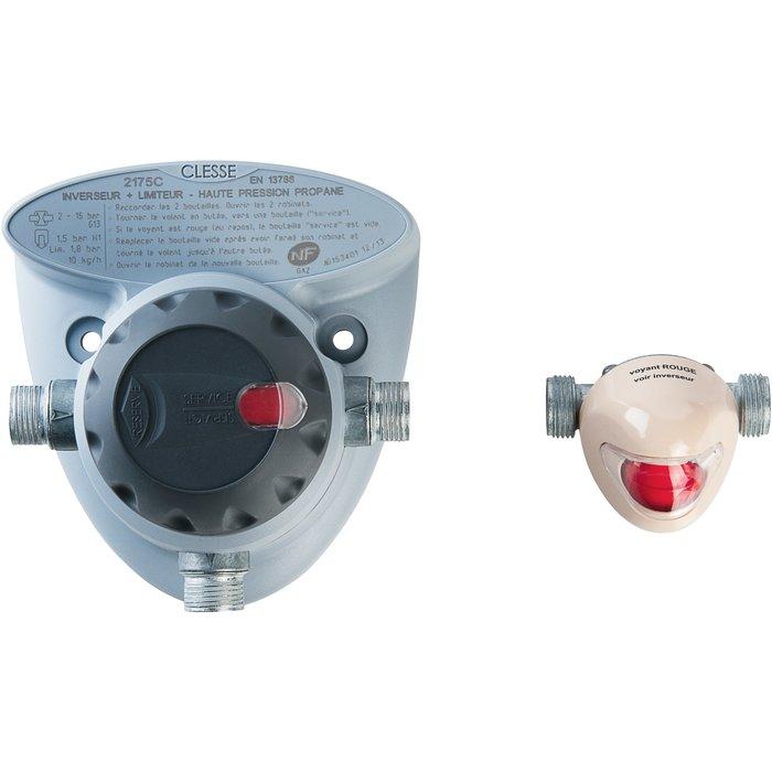 Inverseur et limiteur automatique pour bouteille de gaz propane