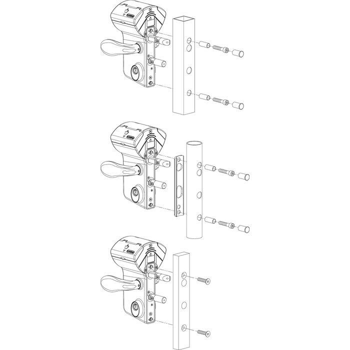 Serrure de portail à code mécanique LMKQ40 - Axe 60 mm-2