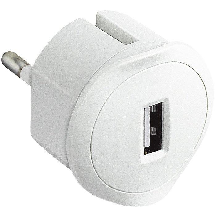 Chargeur adaptateur USB - Sur prise de courant - Spécial encombrement réduit-1