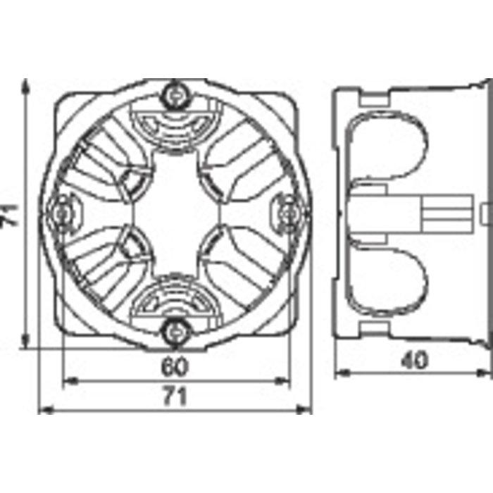 Boîte d'encastrement Batibox Energy - 1 poste - Profondeur 40 mm-1