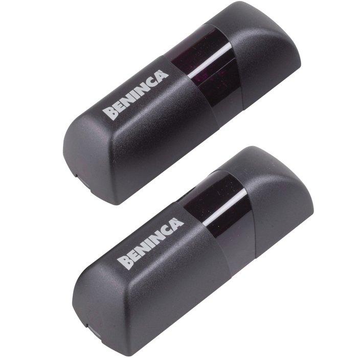 Photocellule - Jeu de 2 - ABS Noir