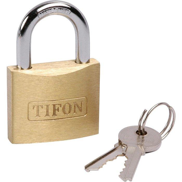 Cadenas à clé Tifon - Série TF - Laiton TIFON - Avec 2 clés