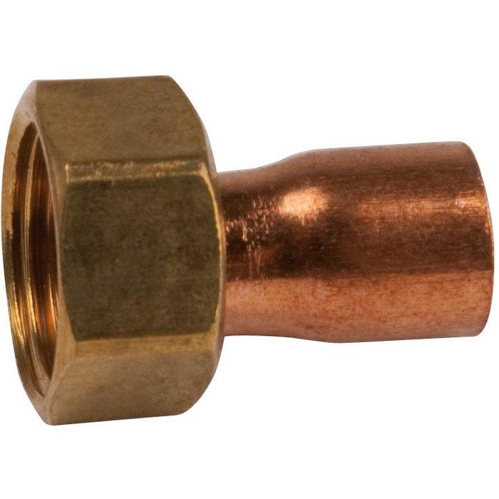 Douille droite à souder - 2 pièces - Cuivre - Femelle - 359GCL