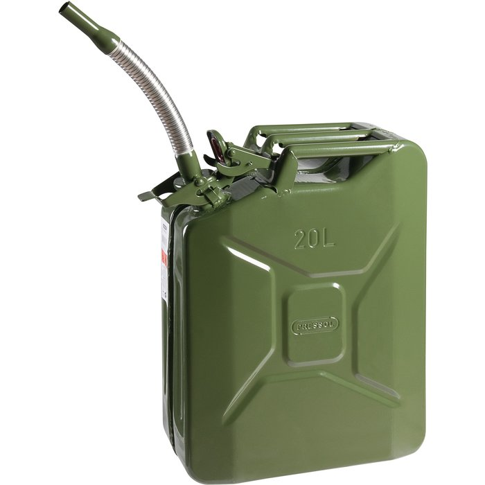 Jerrycan - Tôle acier - Capacité 20 l