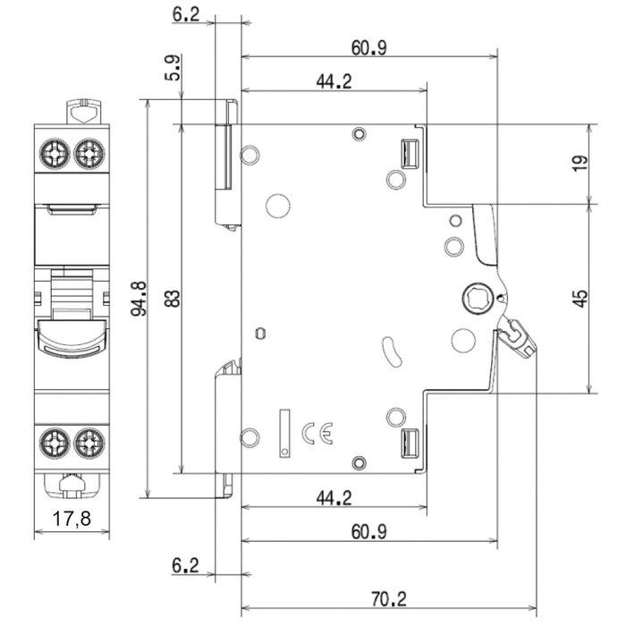 Interrupteur sectionneur DX³-IS - Tension 400 V - 1 module-1