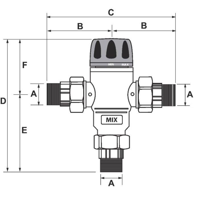 Mitigeur thermostatique pour installation solaire-1