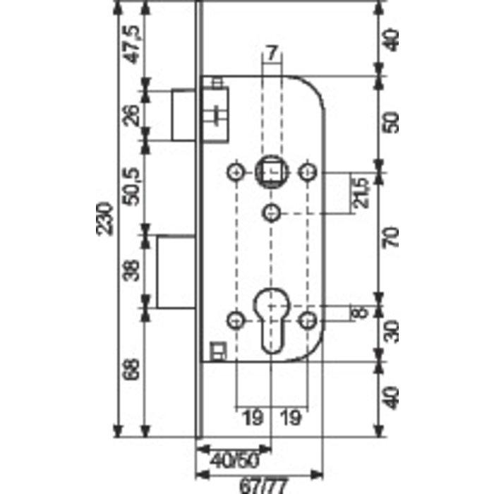Serrure de sûreté pour portail T4130-1