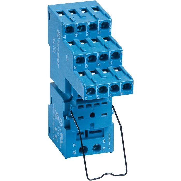 Support avec bornes à cage - Série 94 - Pour relais série 55 - Intensité 10 A-1