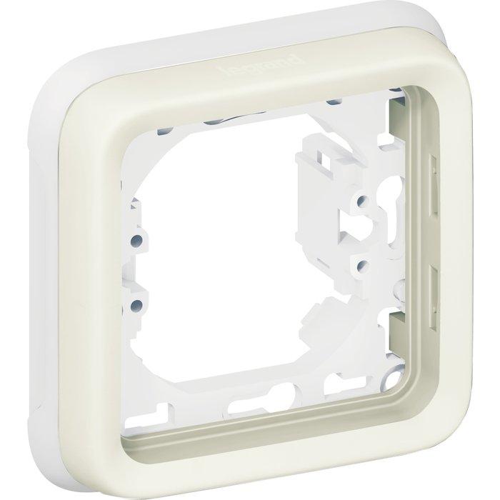 Support plaque Plexo IP55 - 1 poste - Appareillage composable