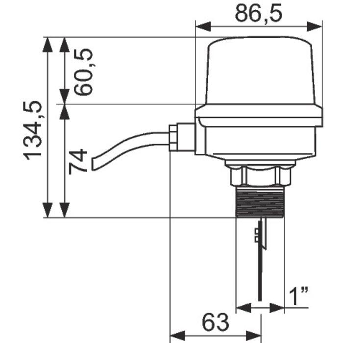 """Contrôleur de débit Flussostat - Filetage 1""""-1"""