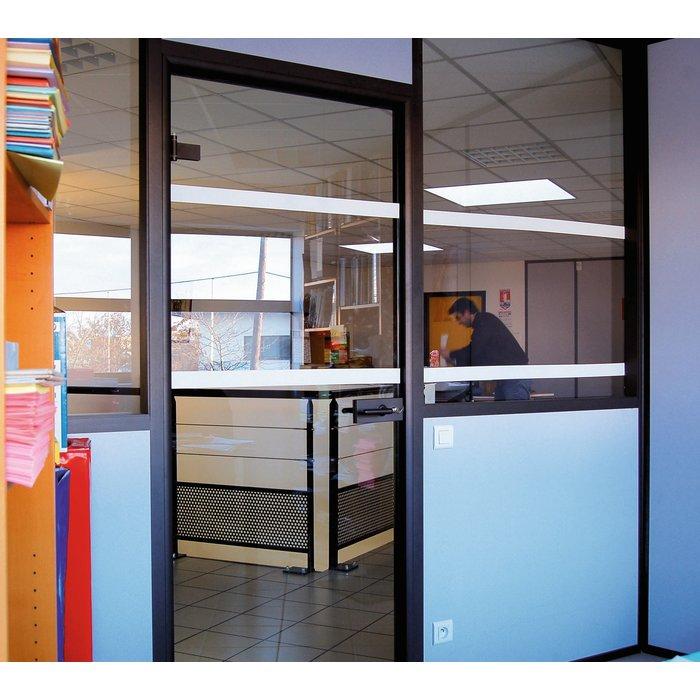 Ruban adhésif pour repérage de surface vitrée - Blanc - Longueur 10 m-2