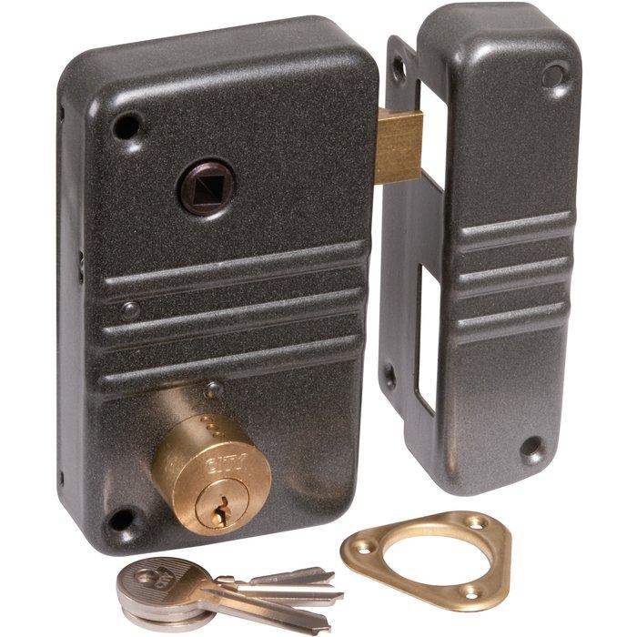 Serrure de sûreté en applique verticale City 5G - À fouillot - Axe 45 mm-1