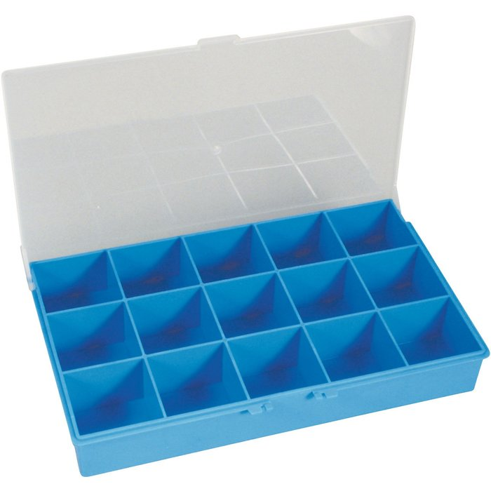 Coffret de rangement Minikit - 15 cases - Dimension 24,7 x 15 x 3,9 cm