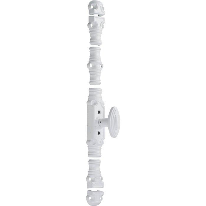 Fausse crémone de fenêtre type 44ST - À bouton - Blanc - Longueur 145 mm
