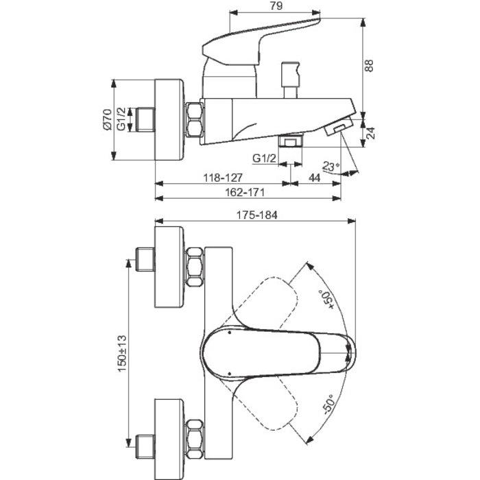 Mitigeur bain-douche Okyris-1