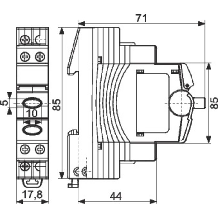 Bouton-poussoir avec voyant lumineux - 1 module - Intensité 16 A-1