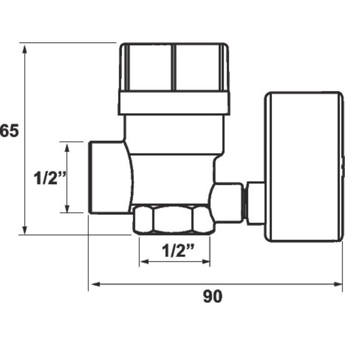 """Soupape de sécurité avec manomètre - Femelle - Filetage 1/2""""-1"""