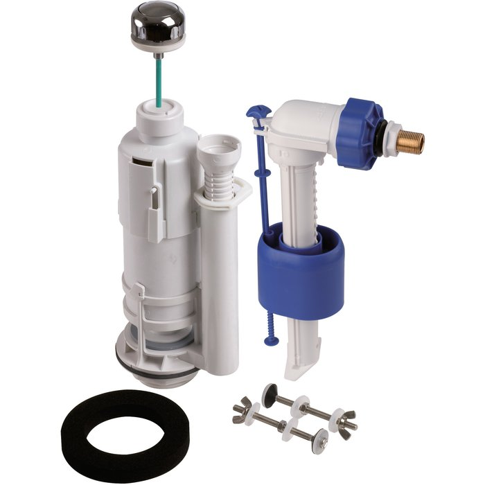 Kit mécanisme de WC 270 - Poussoir simple débit