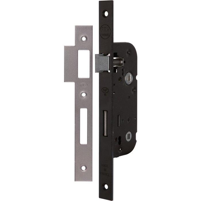 Serrure à larder Optimum - Bouts carrés - Noir - Axe 40 mm-3
