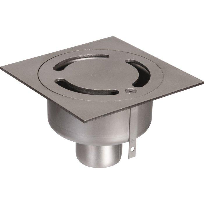 Siphon de sol inox - Longueur 150 mm - Largeur 150 mm - Spécial collectivité