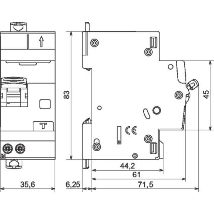 Disjoncteur différentiel DX³ 4500 - 6 kA - Courbe C - Protection des départs-1