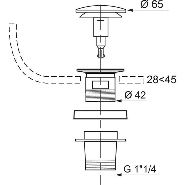 Bonde Quick-Clac automatique de lavabo-1