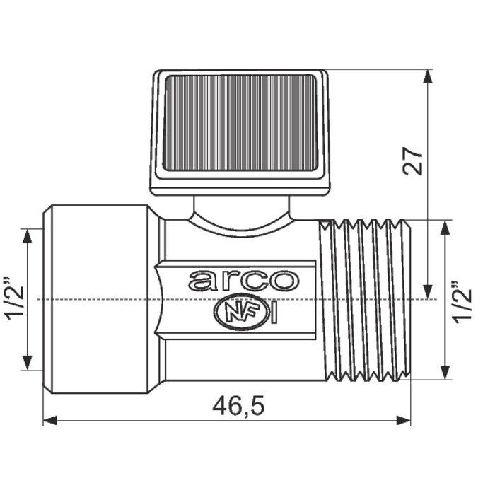 Robinet d'arrêt droit - Mâle / Femelle-1
