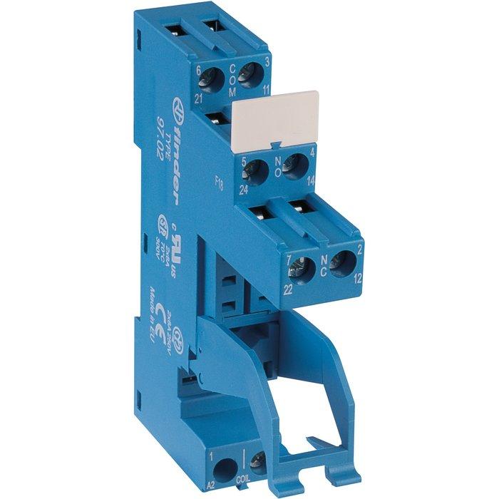 Support avec bornes à cage - Série 97- Pour relais série 46 - Intensité 8 A
