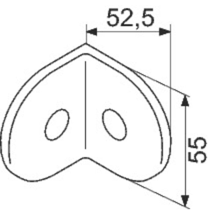 Equerre de fixation BW pour cloison modulaire-1