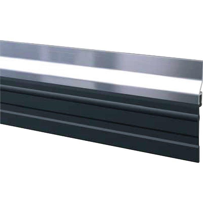 Plinthe de bas de porte de garage ADS-GL - À grande bavette - Aluminium - Longueur 2,5 m