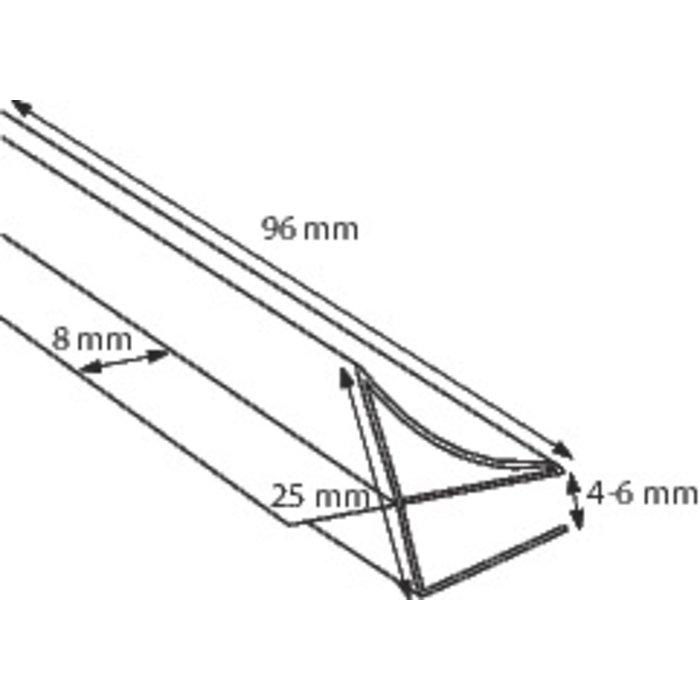 Joint de pare-baignoire Aurora - 1 volet-1
