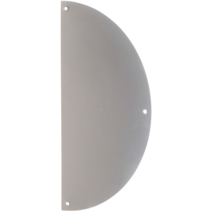 Plaque de propreté demi-lune - Inox brillant