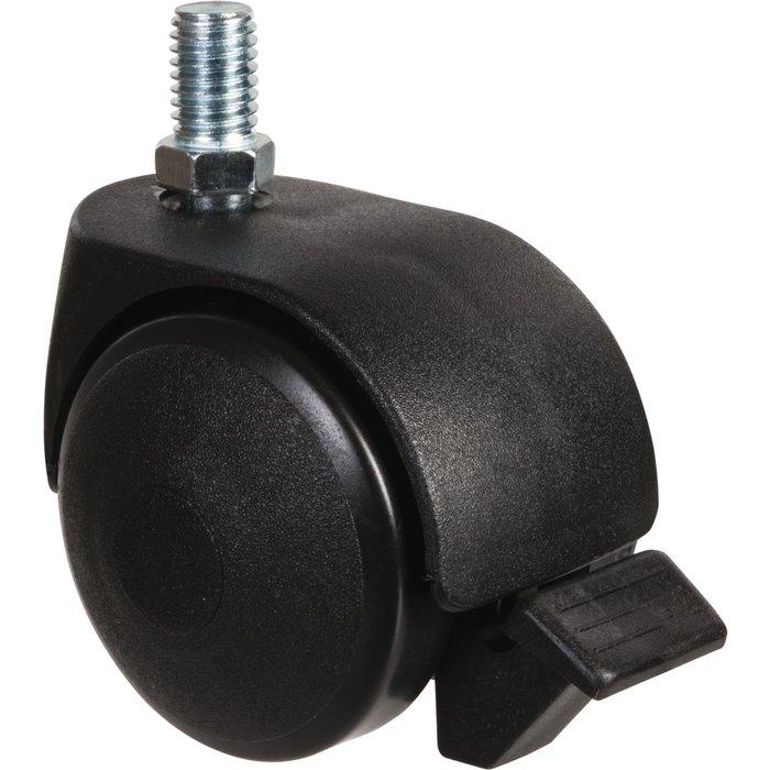 Roulette jumelée ameublement à tige filetée à frein série S49 TAF