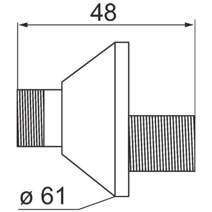 Raccord excentré - Mâle / Mâle - Excentration de 15 mm-1