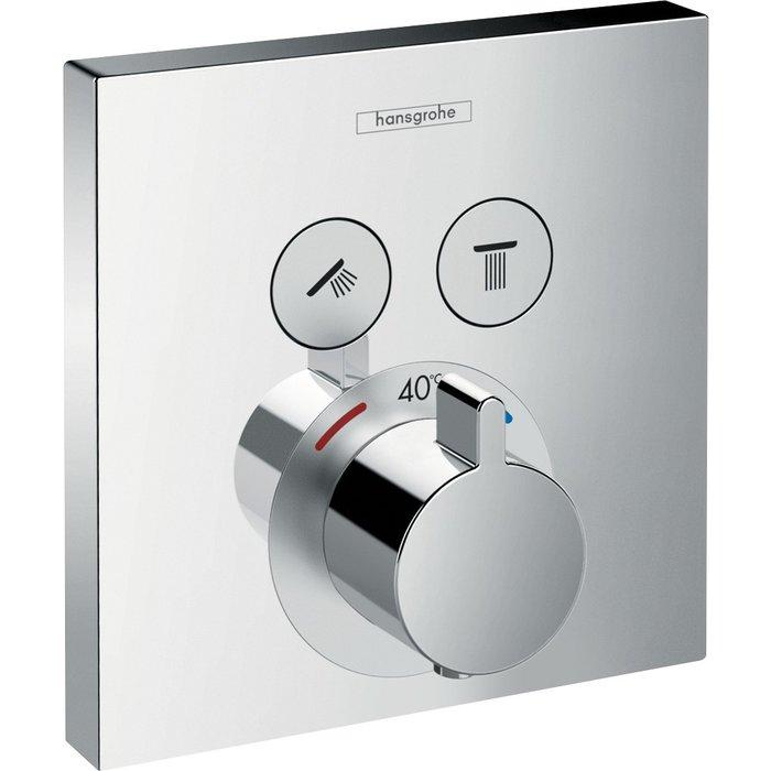 Set de finition mitigeur thermostatique ShowerSelect E encastré-1