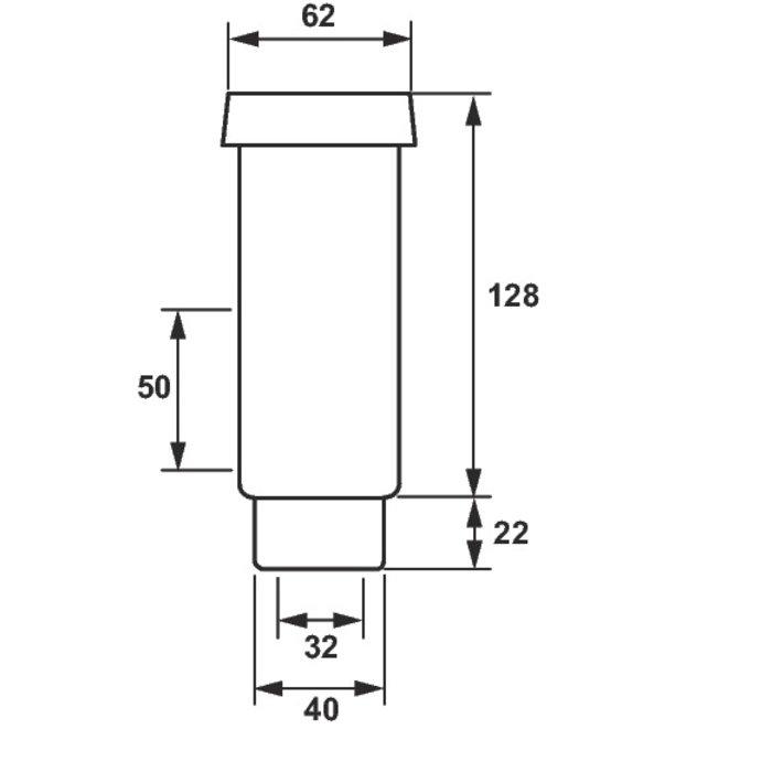 Siphon entonnoir pour groupe de sécurité - PVC-1