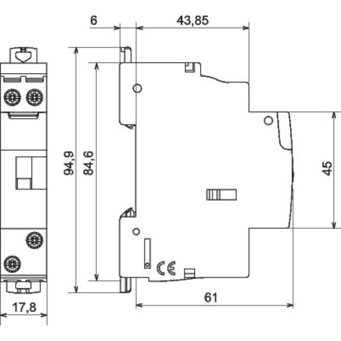 Télérupteur unipolaire - Silencieux - Tension 250 V - Intensité 16 A-1