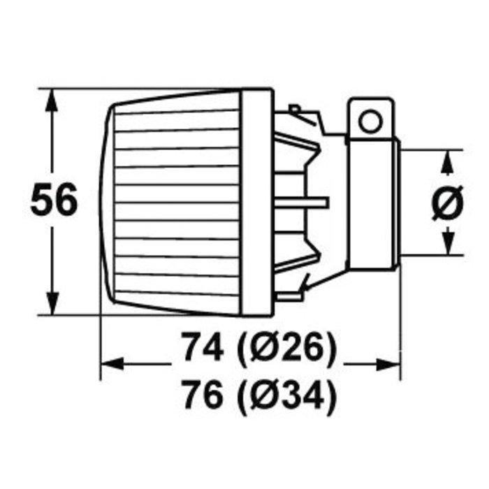 Tête de remplacement pour robinet thermostatique de radiateur - Bulbe incorporé-1