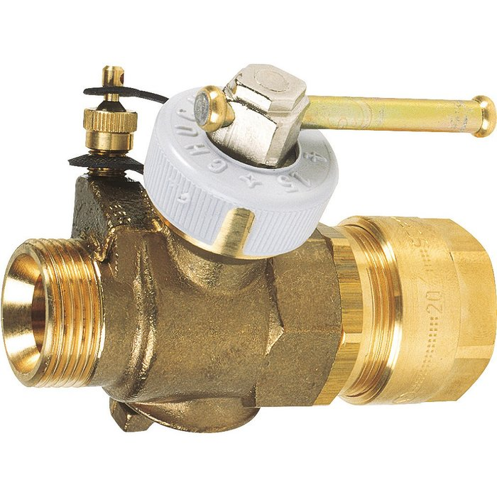 Robinet gaz naturel - Pour tube polyéthylène - Pour moyenne pression