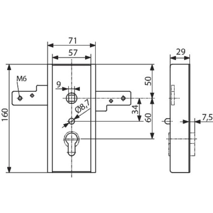 Serrure WSS - Pour porte de garage basculante-2