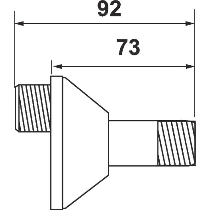 Raccord excentré - Mâle / Mâle Excentration de 12,5 mm-1