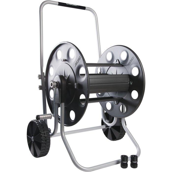 Dévidoir de tuyau d'arrosage sur roues pro - Métallique