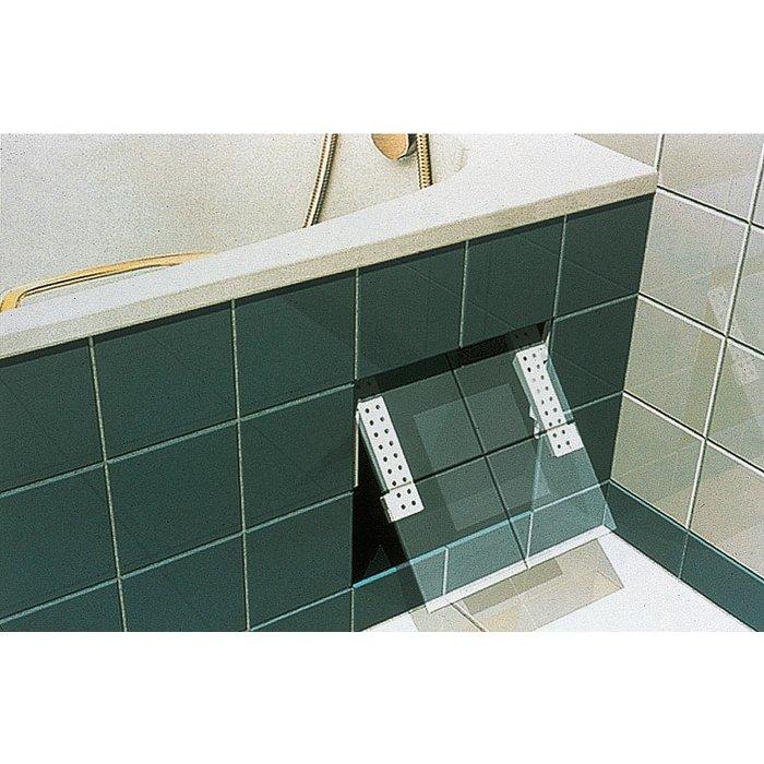 Fixation universelle de trappe de visite pour baignoire