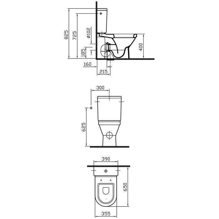 Pack WC céramique caréné - Mécanisme 3/6 l-1