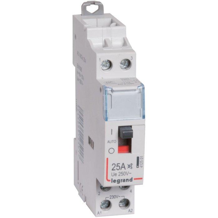 Contacteur domestique silencieux - Bipolaire - Pour tarif heures creuses - Tension 250 V
