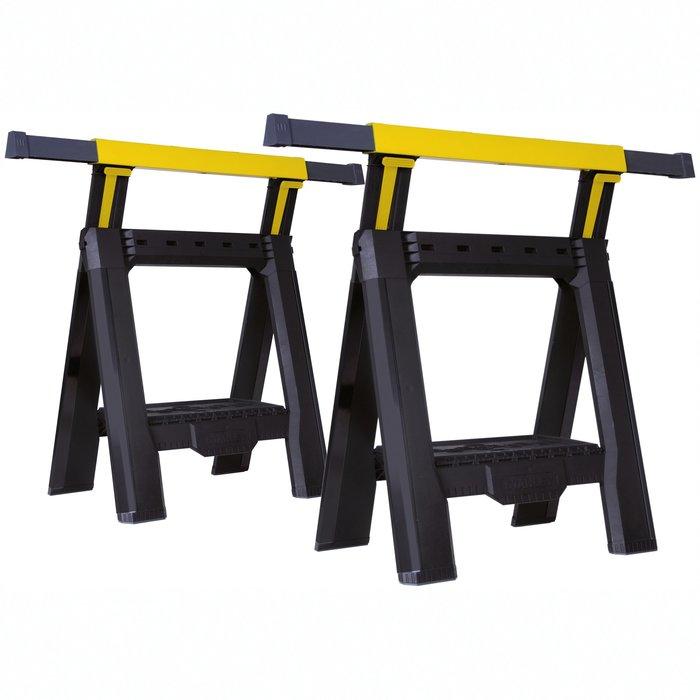 Tréteau d'atelier ajustable en hauteur et largeur - Charge maximale 450 kg-2